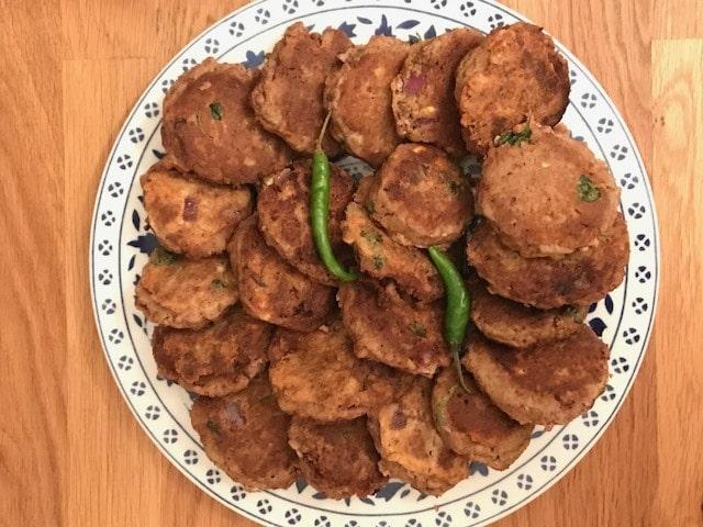 platter of shami kebabs