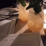 drinks and menus on table