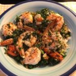 Prawns with garlic butter and parsley