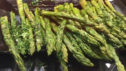 spears of asparagus grilled
