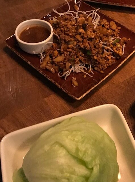 PF Changs chicken and lettuce