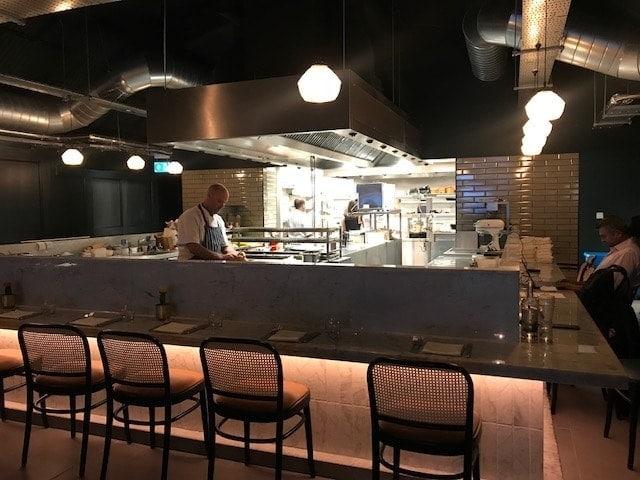 View of open plan kitchen