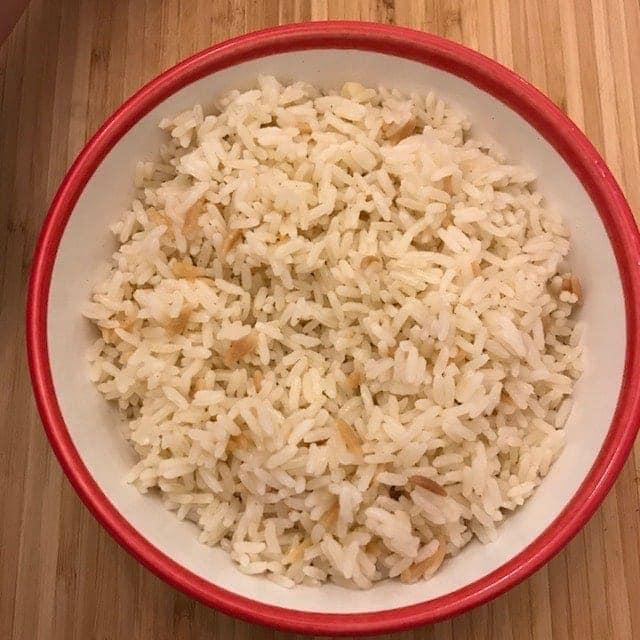 Turkish rice in bowl