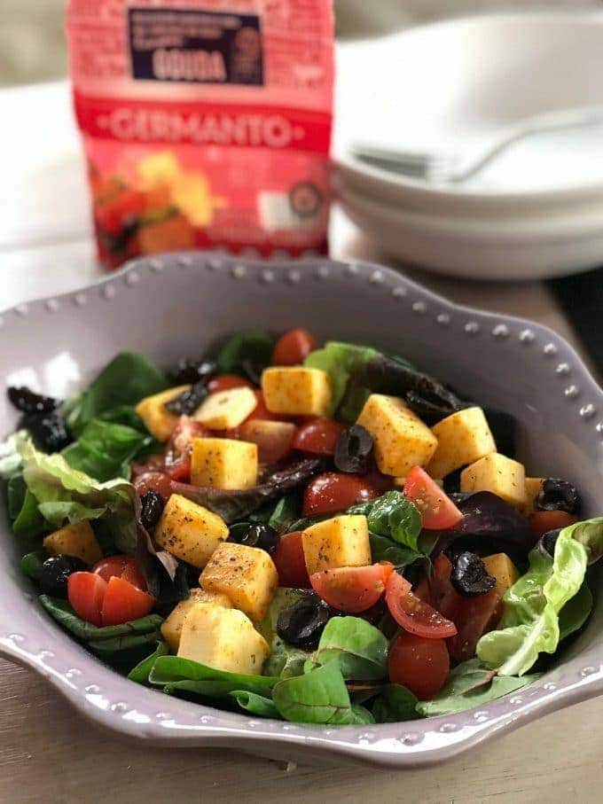 Germanto in a mixed salad