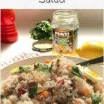 Easy giardiniera rice salad pin