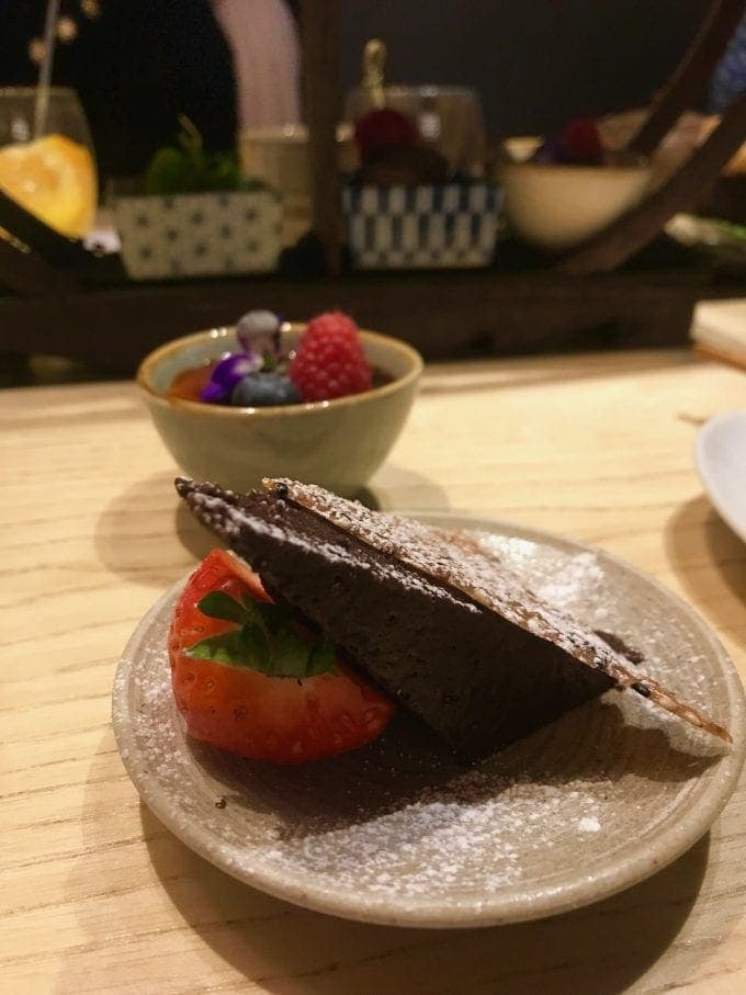 small dishes of dessert