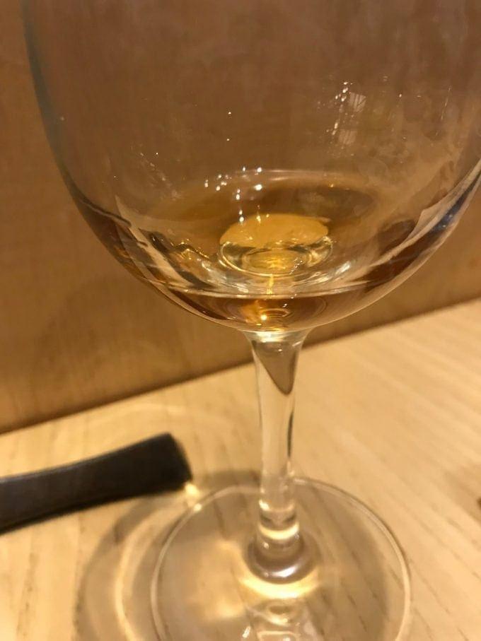 kurozu vinegar in glass