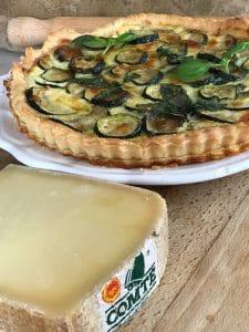 wedge of Comté and zucchini tart