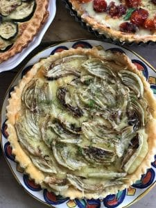 fennel tart on a plate