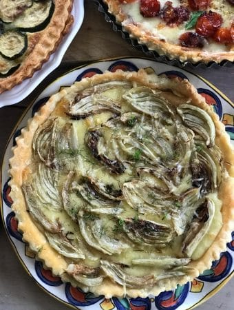 fennel tart on a plate